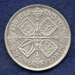 Great Britain, George V, 1929 Florin, Better Grade (Ref. c6903)