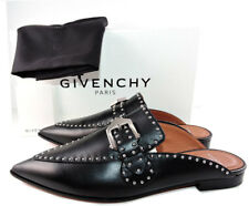 aed14f162bc Givenchy Black Leather Elegant Studded Loafers Mules Flats Buckle Shoes 39