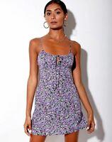 MOTEL ROCKS Mala Slip  Dress in Lilac Blossom  Small S  (mr24)