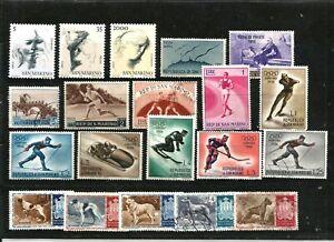 SAN MARINO STAMPS USED & MNH 1952 TO 1978