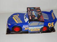 "Cars 3 Lightning McQueen 20"" Blue Toy Car Mattel Disney Pixar"