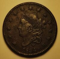 1834 Matron Head Large Cent | *Early Date*   ~XF - Very Fine Detail~   *101