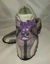 Diesel Cracker Women's Leather Purple & Gray Fashion Sneaker Casual Shoes sz 6