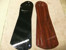 Hampton Bay fan blades, excellent condition, 5 two color sided blades