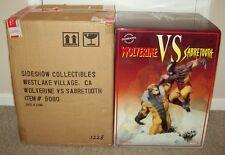 2005 Wolverine Vs. Sabretooth Sideshow Statue Rare Diorama x-men bust bowen xm