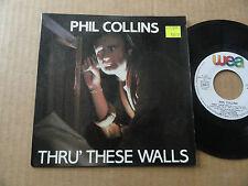 "DISQUE 45T DE PHIL COLLINS  "" THRU' THESE WALLS """