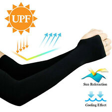 1 Pair Arm Sleeves Cover Uv Sun Protection Outdoor Sports Breathable Arm Warmer