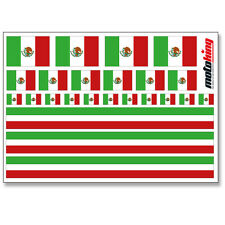 MEXIKO AUFKLEBER | FLAGGEN STICKER | HELM FAHRRAD MODELLBAU BOBBYCAR AUTO