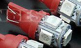 ****  AmpouleT10 5050 SMD 5 LED rouge Eclairage Feux Voiture DC 12V********
