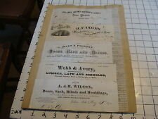 Large original group of BILLHEADS & REAL ESTATE TRANSFER NOTICES FROM 1870s