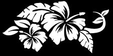"Truck Car Window Vinyl Decal Sticker Beach Hawaiian Hibiscus Flowers 4""x8"""