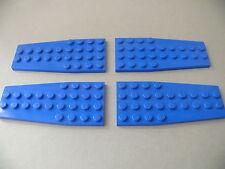 Lego 4 ailerons bleus set 7186 6499 3451 7186 / 4 blue plate wedge