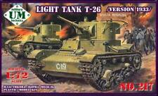 Soviet Light Tank T-26 version 1933 1/72 UM