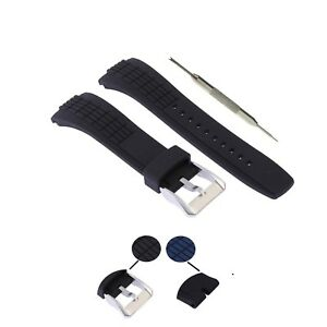 26mm Silicone Rubber Watch Strap Band Fits For Seiko Velatura W/ Tool