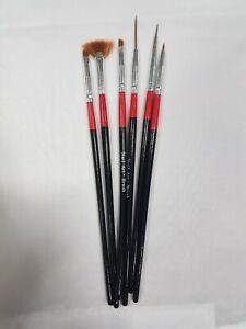 NEW - Nail Art Brushes (6 Pack) UK SELLER