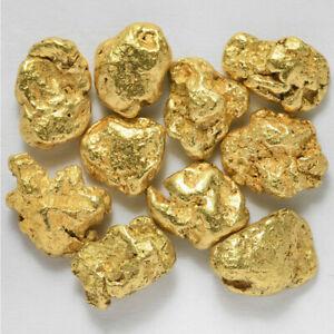 10 Pepitas De Oro Natural De Alaska Con Certificado 23Kt (#229-22) Pepita Nugget