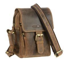 Greenburry Umhängetasche Leder klein braun Tasche Schultertasche Vintage