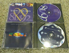 """(2) CD Simple Minds LOT """"Glittering Prize 81-92, and Real Life"""" VG+ to NM-"""