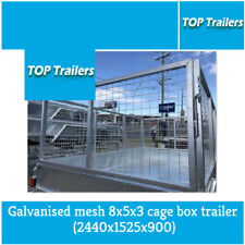 Galvanised mesh 8x5x3 cage box trailer (2440x1525x900)