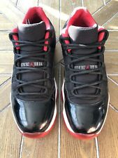 "Used! Nike Jordan 11 Low ""Bred"" - Size 12"