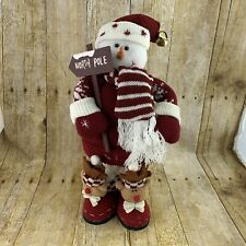 North Pole Snowman Plush Standee Houston Harvest Gift Holiday Home Decor