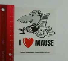 Aufkleber/Sticker: Etat Kalkulator - I love Mäuse (050416185)