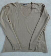 Primark Long Sleeved Brown Jumper size 16 with V neck