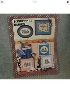 Sunbonnet Babies Craftways Counted Cross Stitch pillow wall hangs embellishments