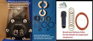Range Rover L322 Hitachi Compressor Piston seals-Delivery Valve &New Drier Unit