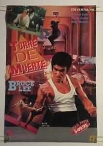 Torre De Muerte Bruce Lee Original Poster Vintage Pin-up Martial Arts Movie 70's