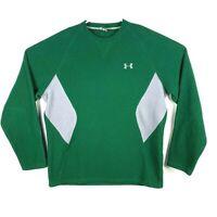 Under Armour Men's Large Green Gray Fleece Long Sleeve Pullover Sweatshirt