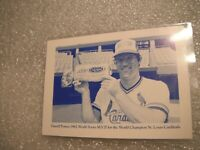 Darrell Porter 1982 MVP World Series Colonial Bread Sweepstakes Card Cardinals