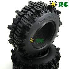 "2pcs RC 1.9'' 93mm Mud Slingers Crawler Soft Tires Fit 1.9"" Beadlock Rims Wheels"
