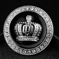 Adesivo CORONA metallo auto moto scooter emblema CROWN car badge 3D ARGENTO
