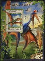 SIERRA  LEONE 2016 FLYING DINOSAURS   SOUVENIR SHEET  MINT NH