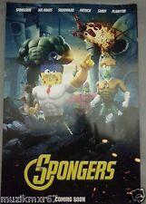 SDCC Comic Con 2014 Handout nickelodeon Spongebob THE SPONGERS poster