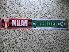 sciarpa WERDER BREMEN - MILAN champions league 2009 football club calcio scarf