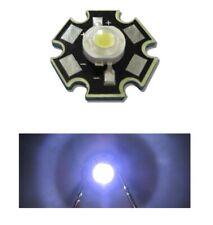 2 X LED 1W White With Heatsink Heat 3V High Luminosity White Light 6000k