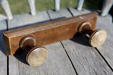 Porte-manteaux bois ancien 2 crochets patère / Vintage wooden coat rack