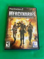 Mercenaries: Playground of Destruction (Sony PlayStation 2, 2005) PS2 Complete