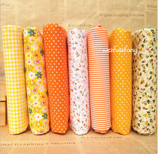 Stoffpaket Orange Quilt Stoffreste 7*( 25*25cm) 100 % Baumwolle