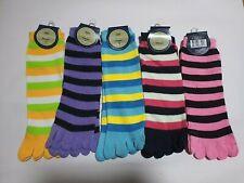 Children's Socks 5 Toe Novelty Striped Socks Snugadoo Super Soft New With Tags