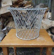 Original Vintage Wire Metal Storage Basket - Retro Storage