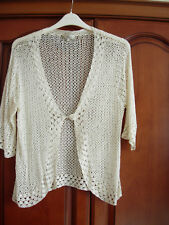 "CC (Country Casuals) lacey knit top. XL. 38"" NEW"