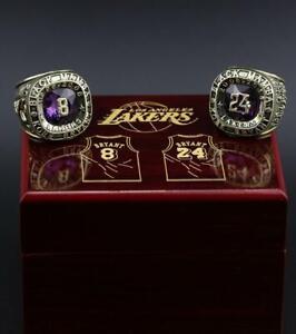 #8 #24 KOBE BRYANT Hall Of Fame Black Mamba Team Ring Wooden Box Souvenir Gift
