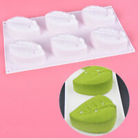 6 Cavity Leaf Shape Silicone Soap Mold DIY Handmade Soap Making Molds Cake M YK