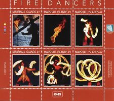 Marshall Islands 2017 MNH Fire Dancers 6v M/S Cultures Traditions Stamps