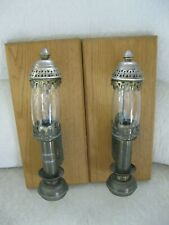 SNCF/ANCIENNES APPLIQUES/LAMPES SNCF/WAGONS LITS/LAITON CIRCA1940 BE