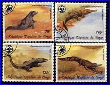 CONGO PR 1987 WWF CROCODILE used REPTILES complete SET