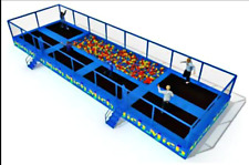 800 sqft Commercial Trampoline Park Dodgeball Climb Gym Inflatable We Finance